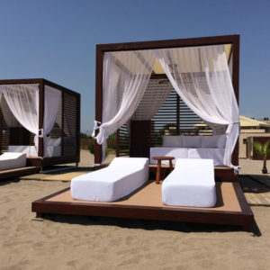Daybed on the beach