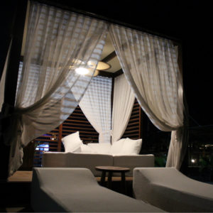 Daybed at night