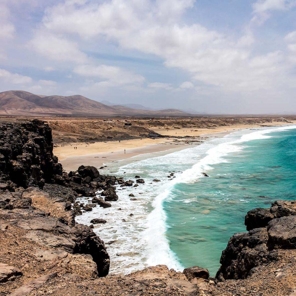 fuerteventura view of the atlantic ocean