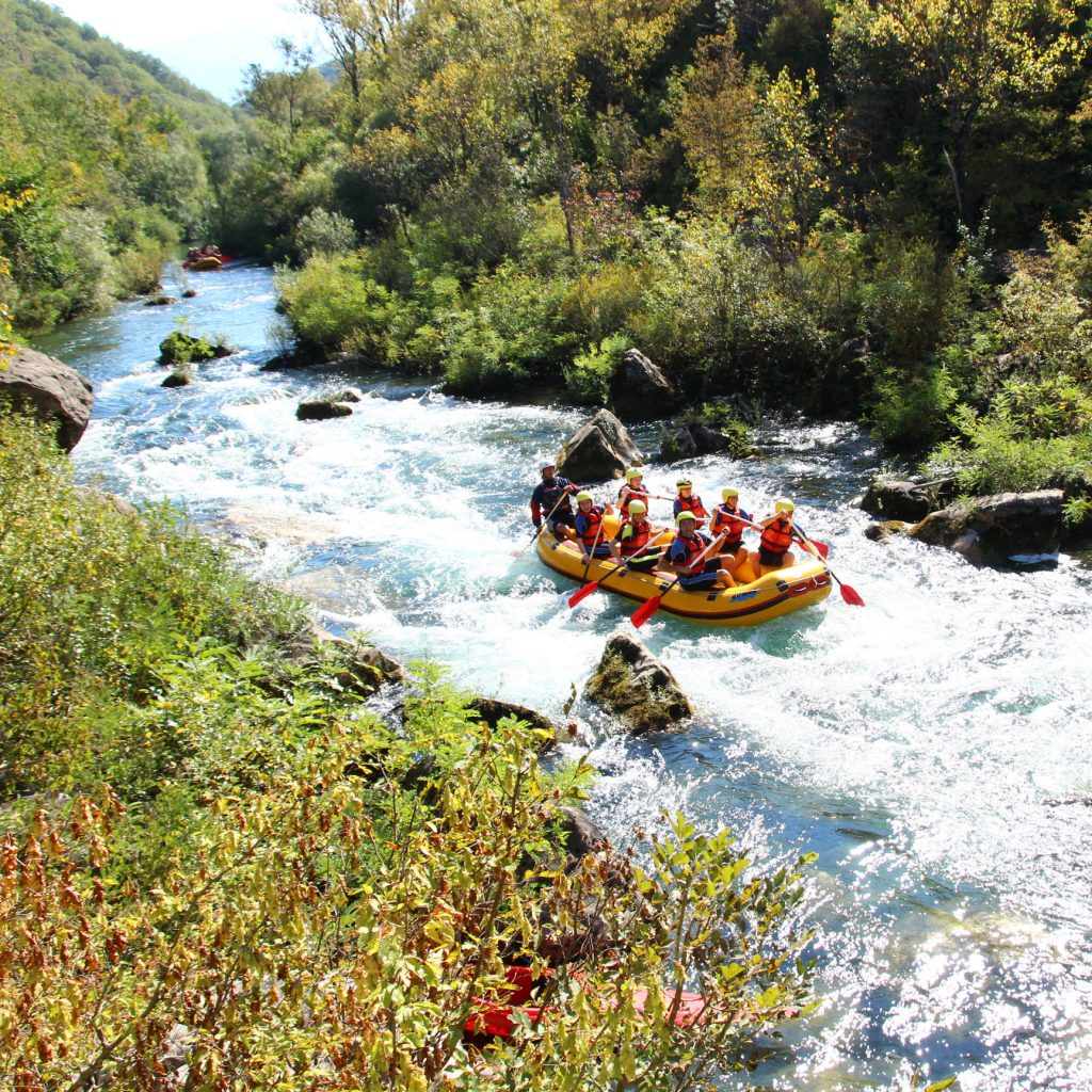 Rafting on the river Cetina in Croatia
