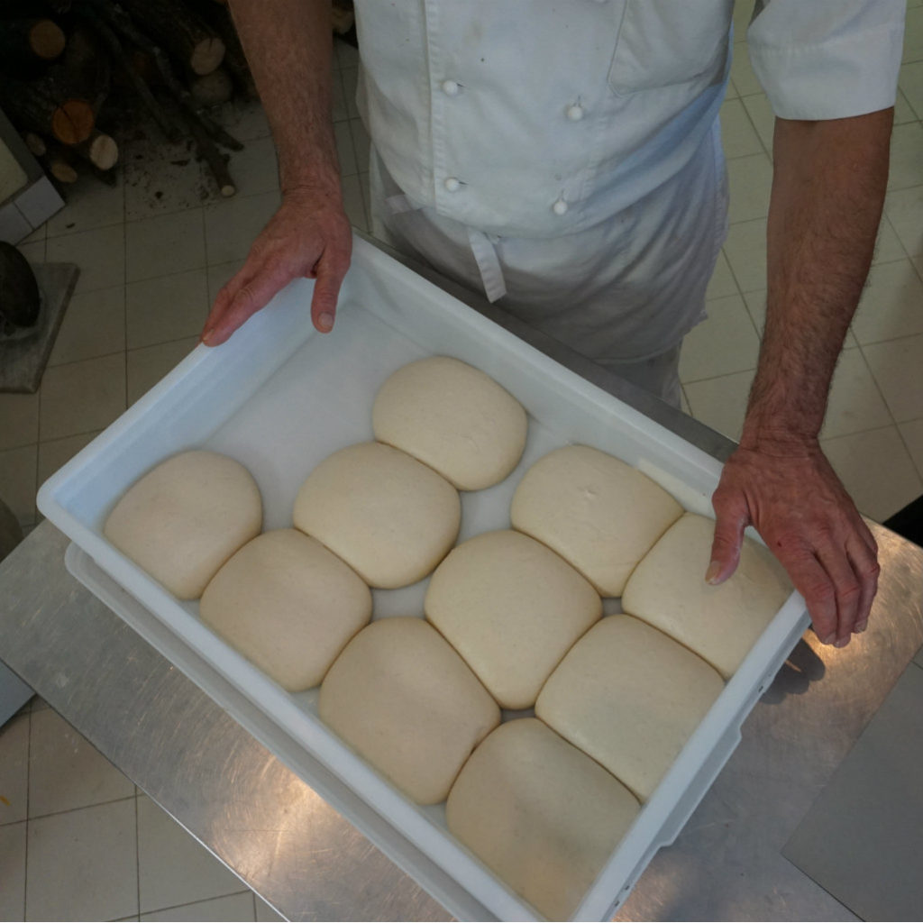 Dough pieces rest again in large bowl