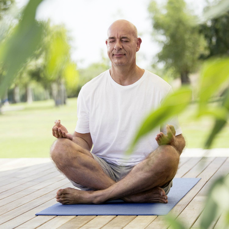 Yoga breathing relaxation exercise