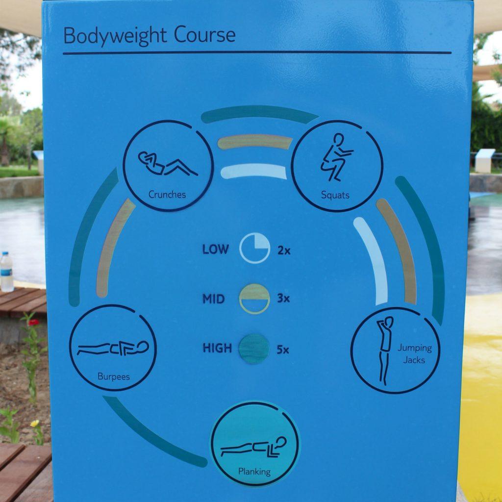 Bodyweight exercise course