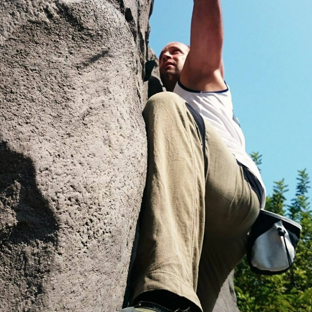 BLUEf!t Guide beim Bouldern