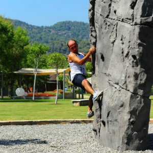 BLUEf!t Guide an Boulderfelsen