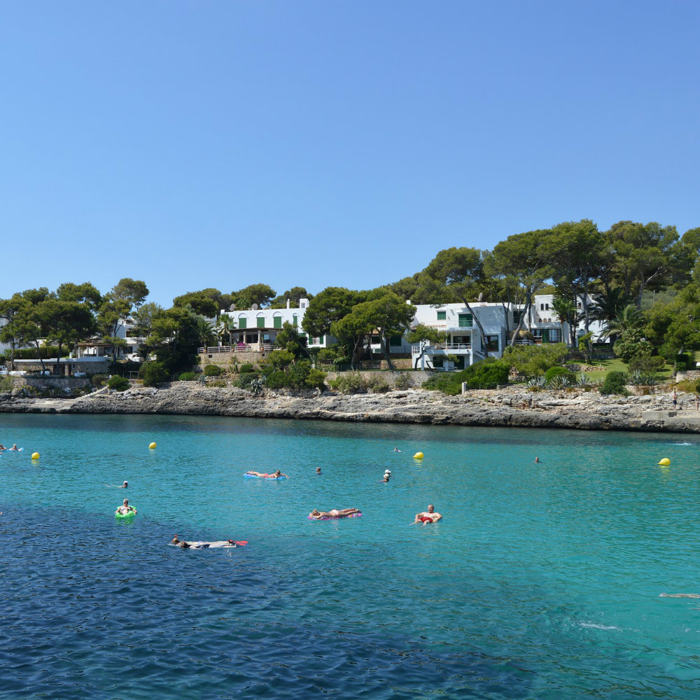 Sea bathers house beaches on mallorca