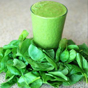 Smoothie grün aus Spinat