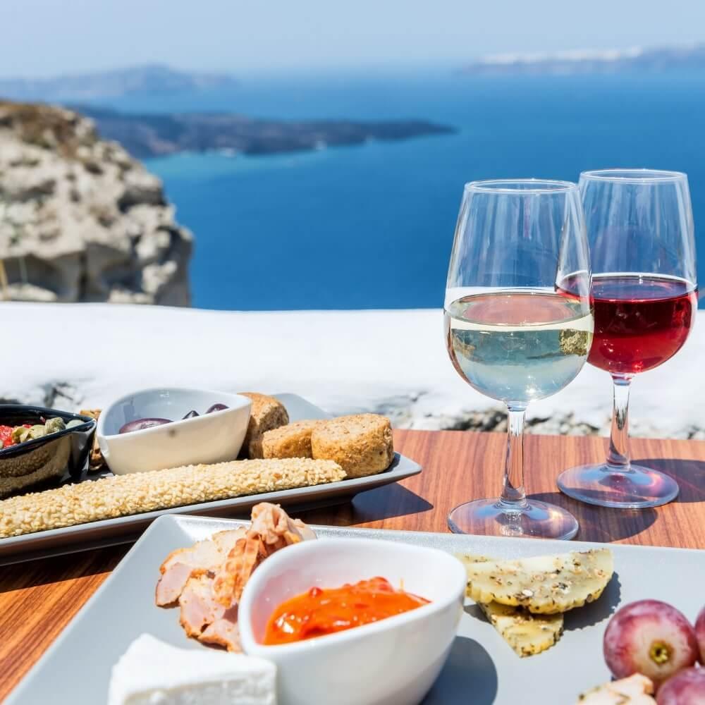 Griechische Tapas Tipp Santorini