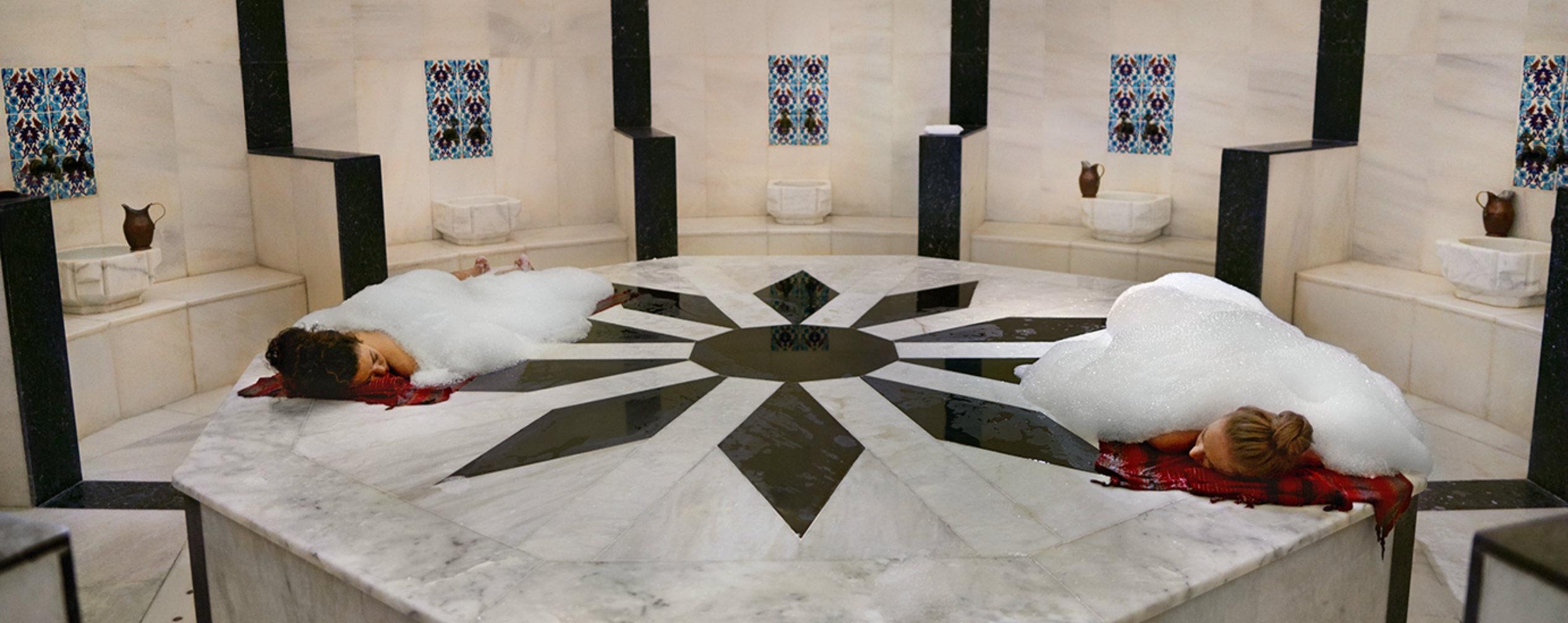 türkische Massage Hamam-Ritual