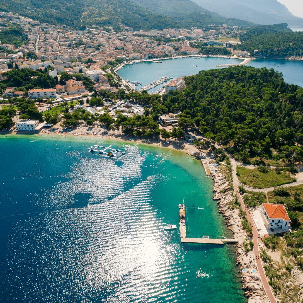 Luftaufnahme Küste Makarska