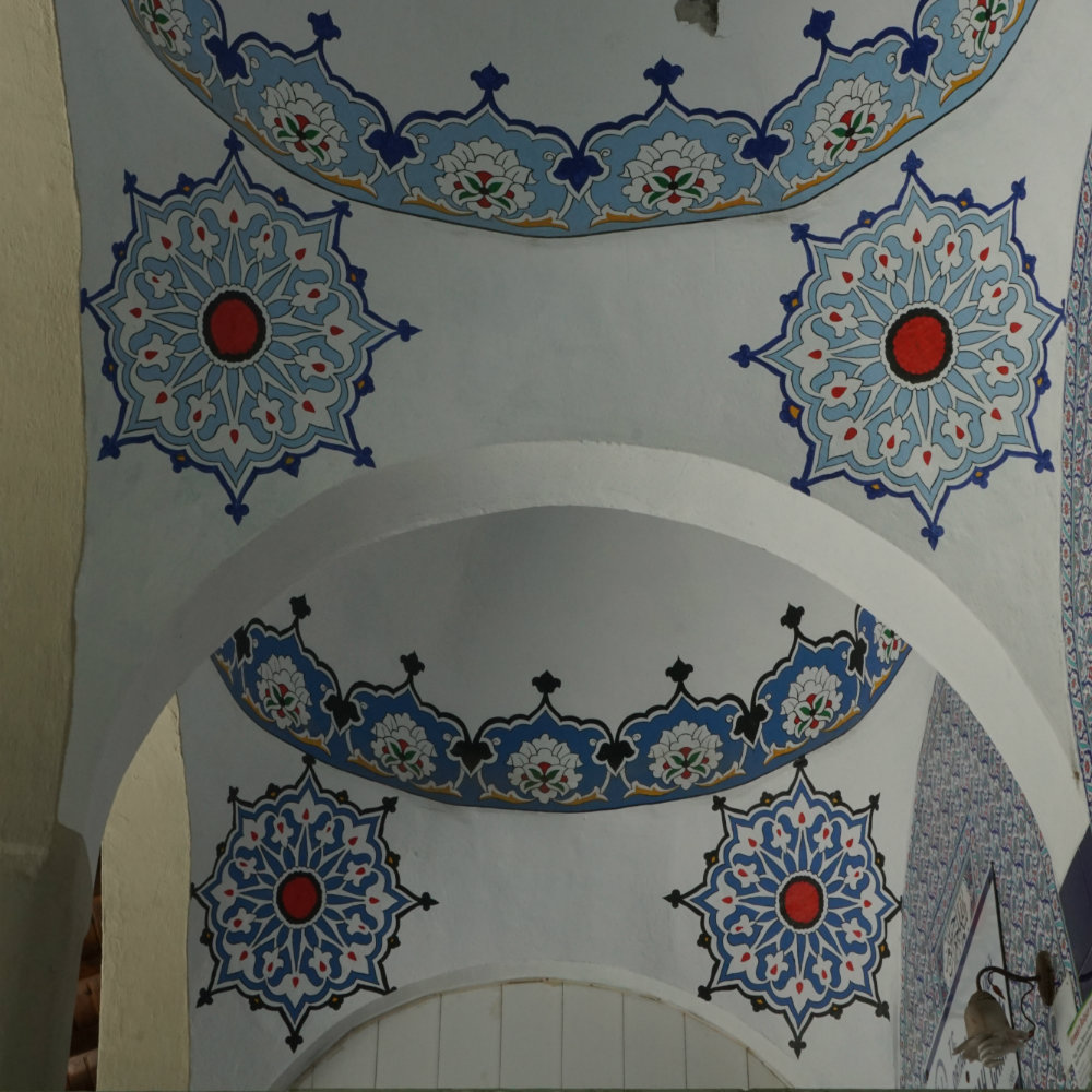 Painted ceilings in the mosque