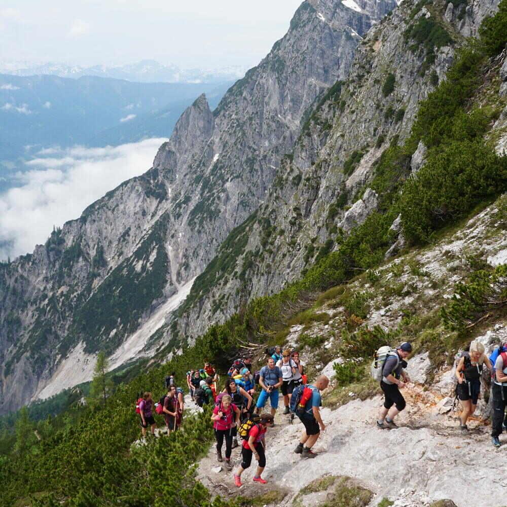 stoabergmarsch wander durch die alpen