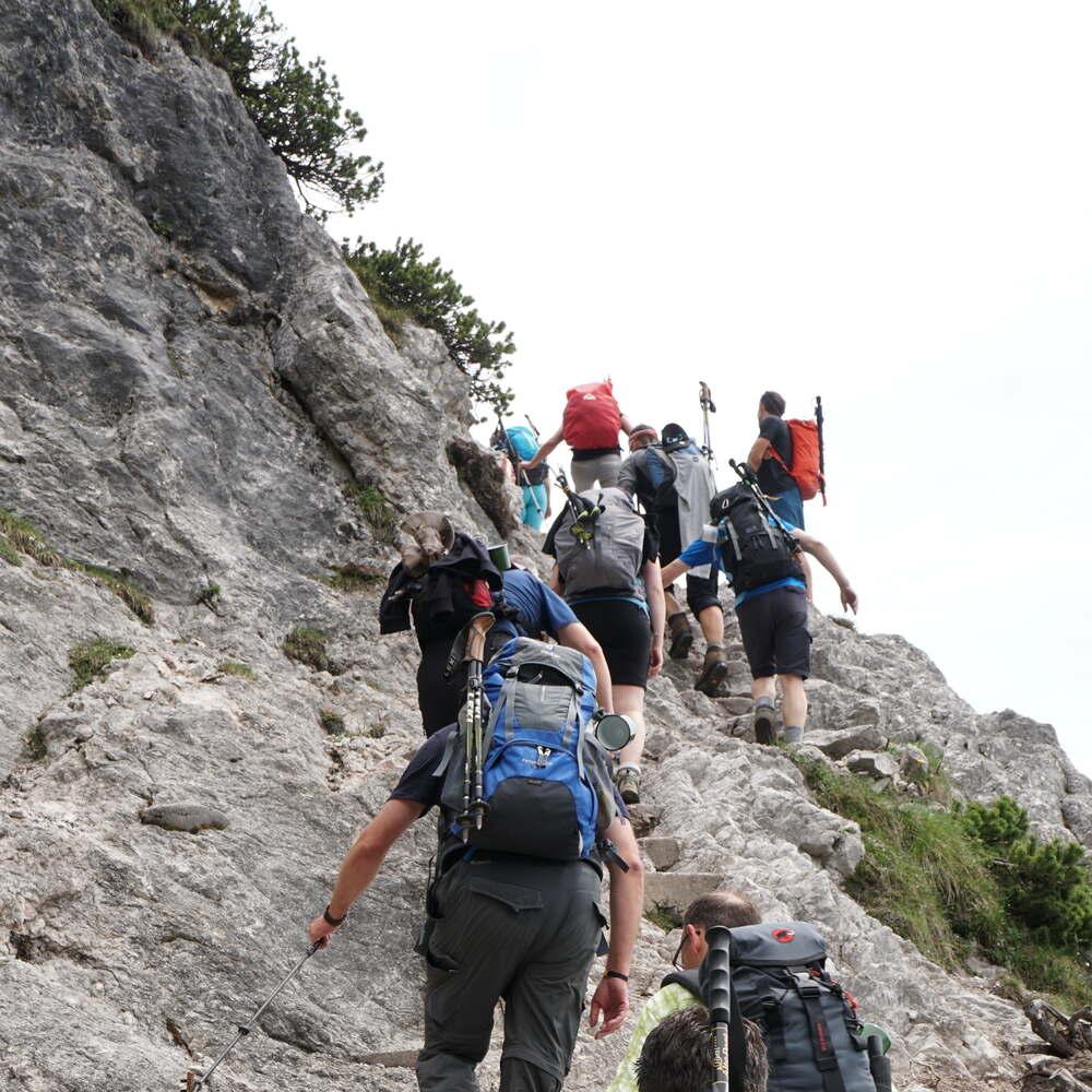 stoabergmarsch bergsteigen
