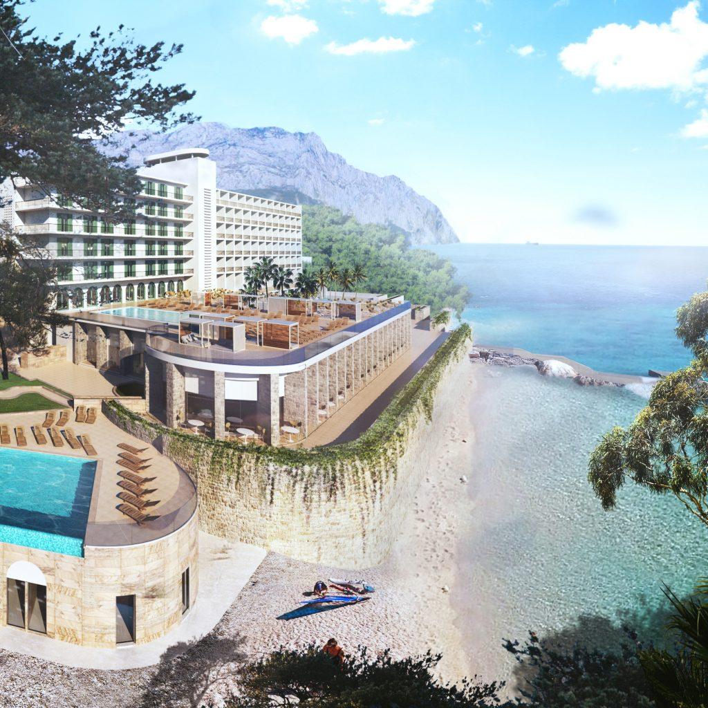 TUI BLUE Jadran Aussenansicht mit Pool und Meer
