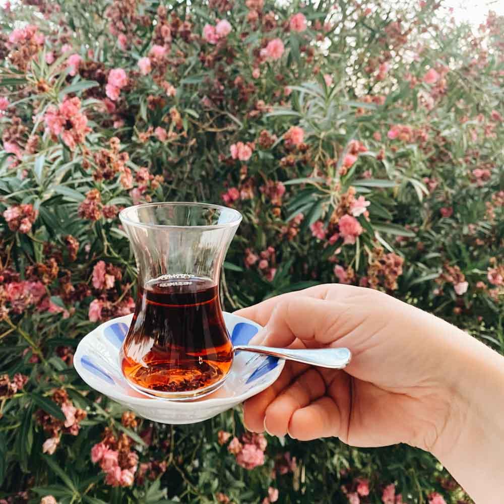 türkischer Tee in sarigerme park