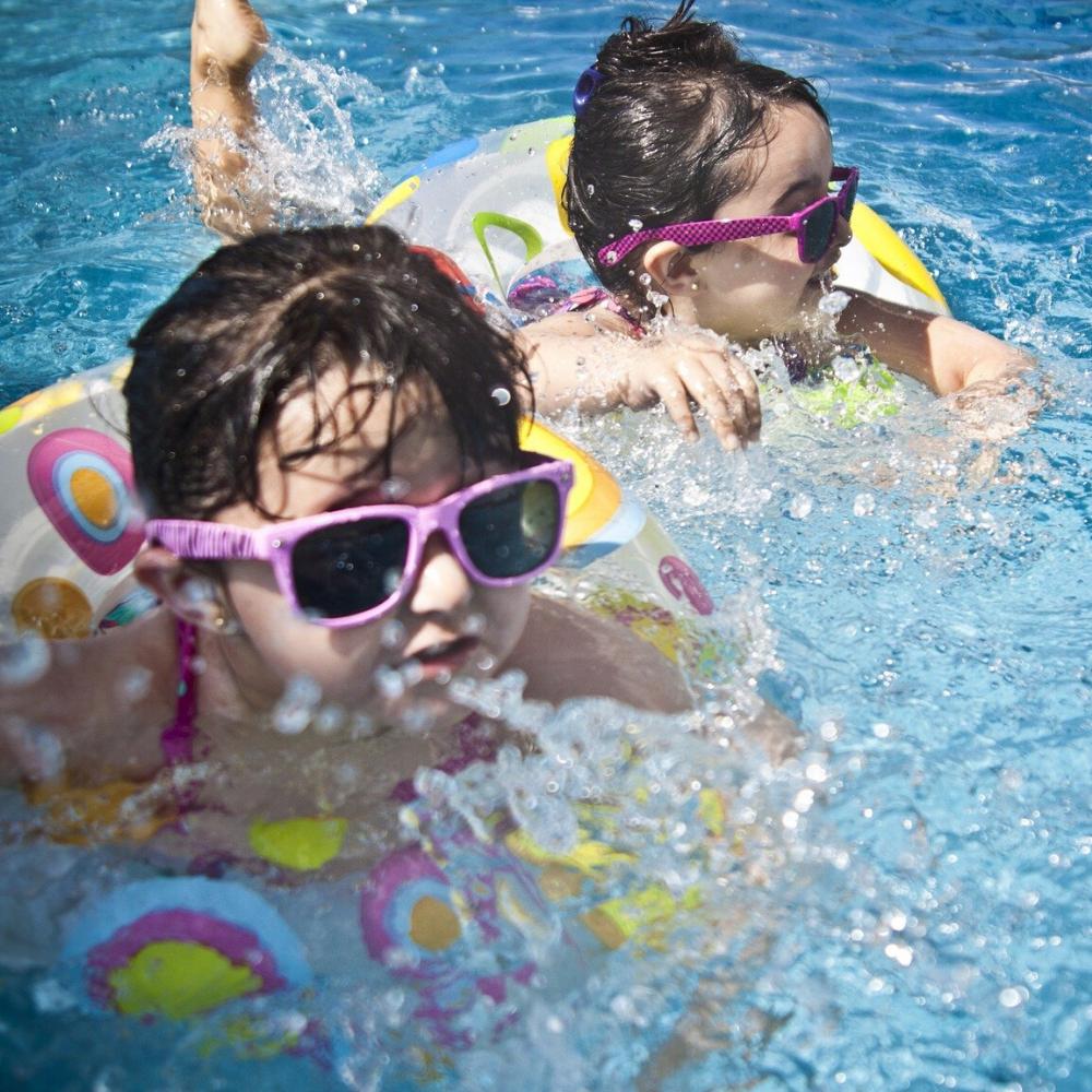 Holiday Canary Islands children pool splash