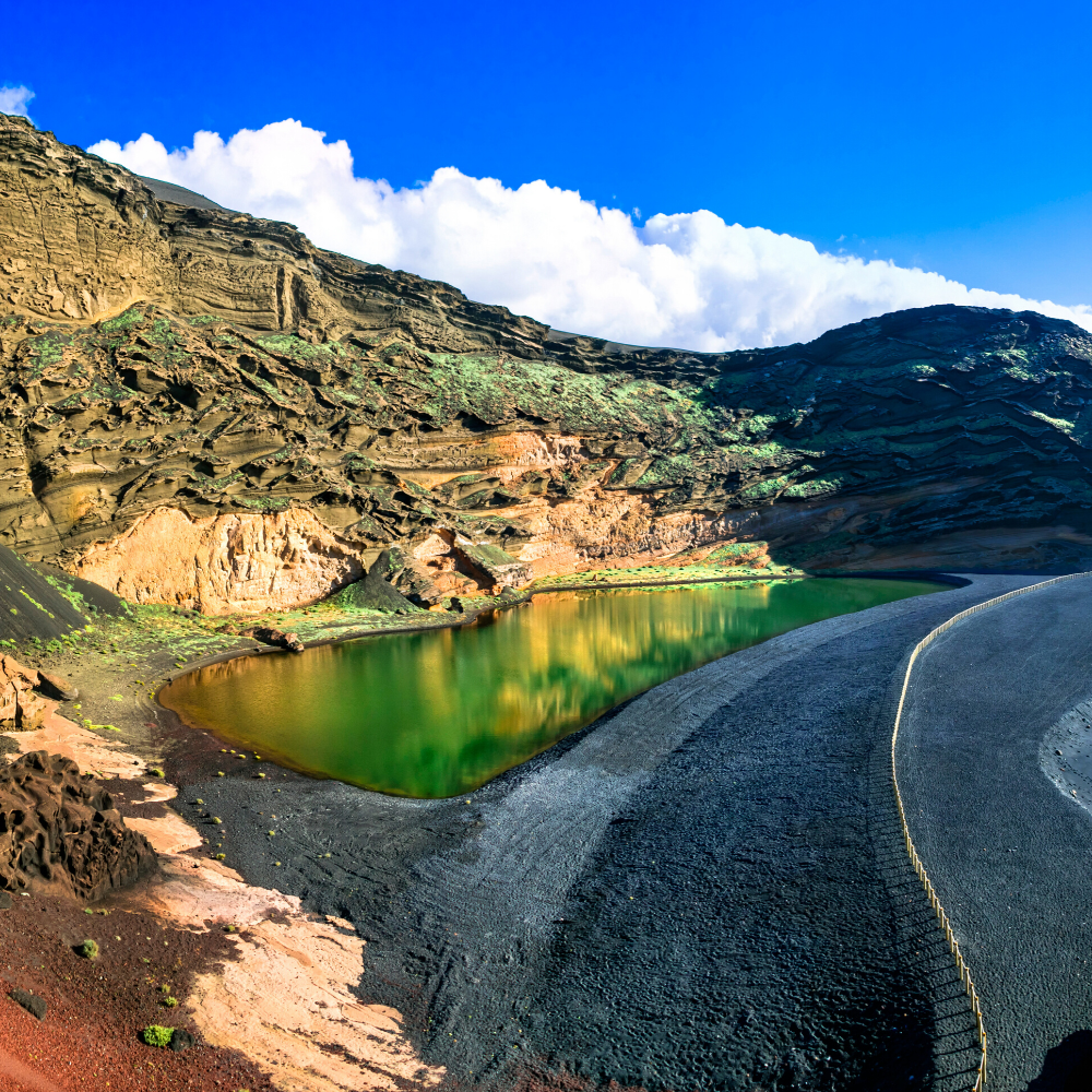 Holiday Canary Islands Lanzarote Green Lagoon El Golfo