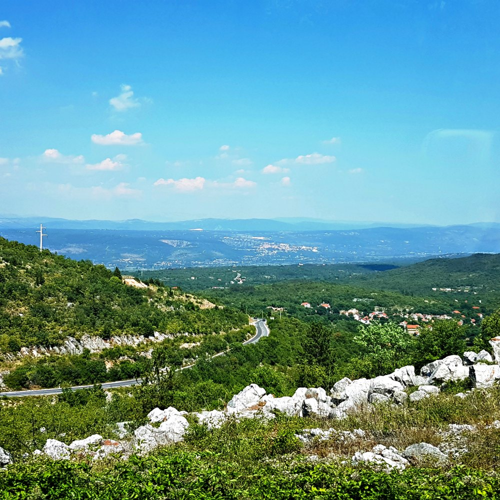 ausblick kroatiens hinterland