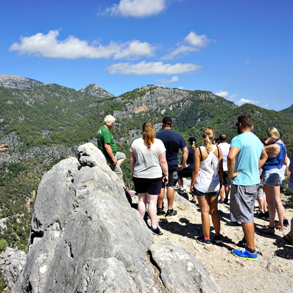 view from the tramuntana mountains