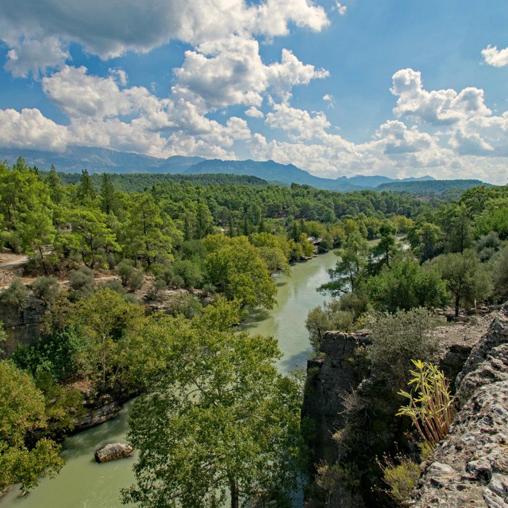 aussicht nationalpark türkischen riviera