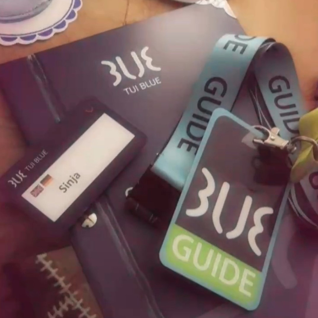 blue guide badge
