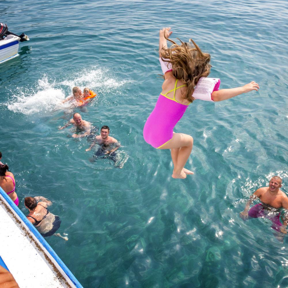 Bootsausflug Rhodos mit Familie Kinder