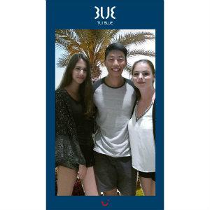 Slfie TUI BLUE Automat Gewinner AUgust