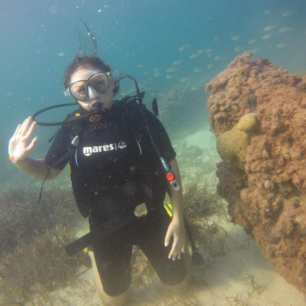 Discover Scuba Diving diver