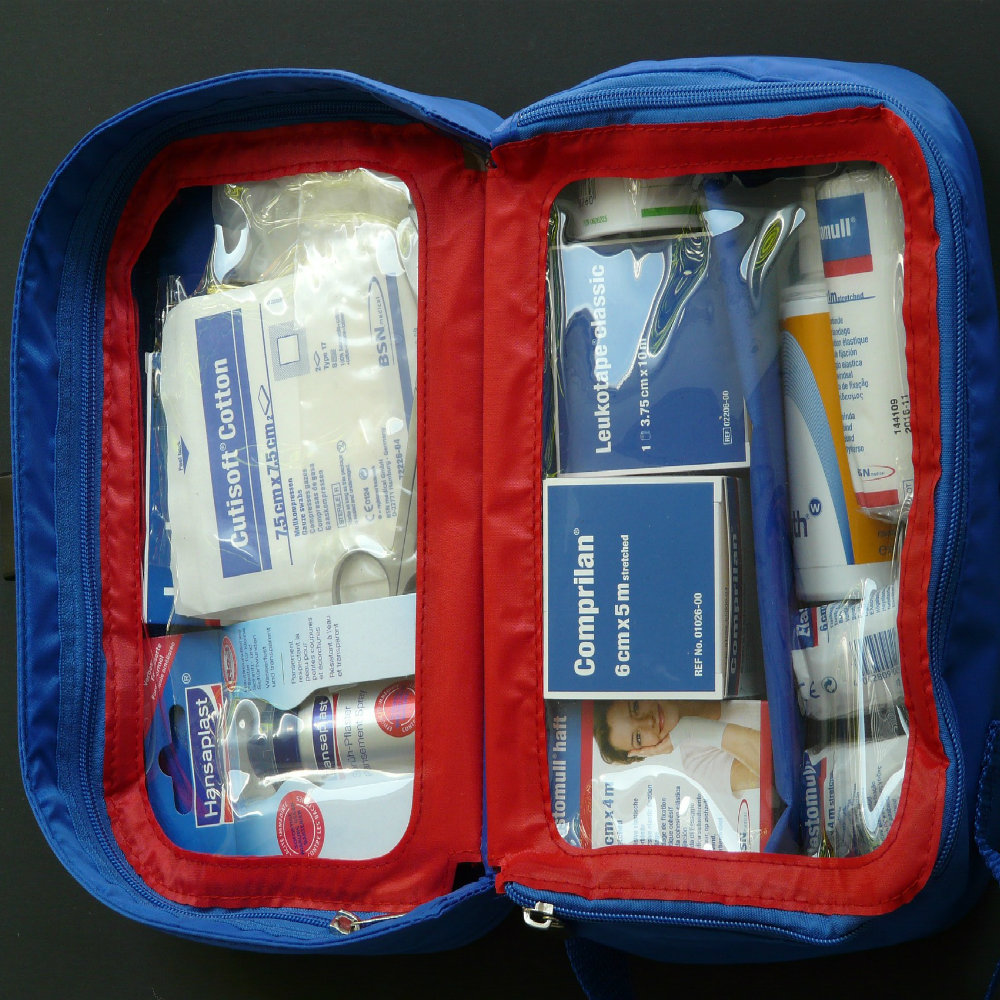 Travel first-aid kit
