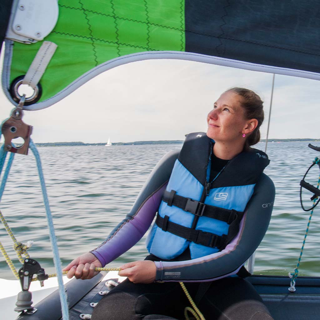 fock auf catamaran straff ziehen