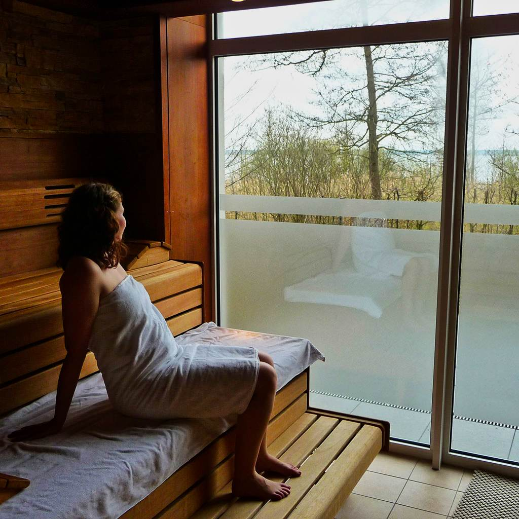 woman wellness sauna fleesensee