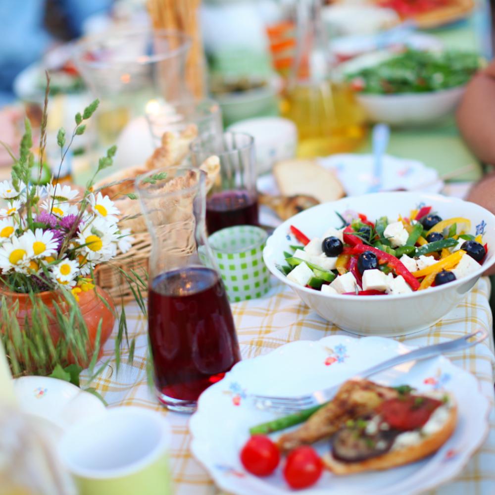 Griechenland Esskultur Tisch griechische Gerichte