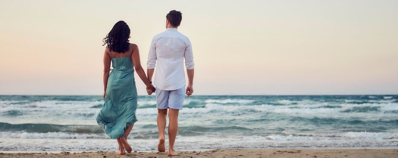 Adults only Hotels couple at the beach
