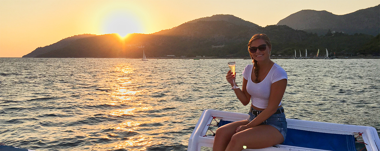 sunset boat tour in turkey