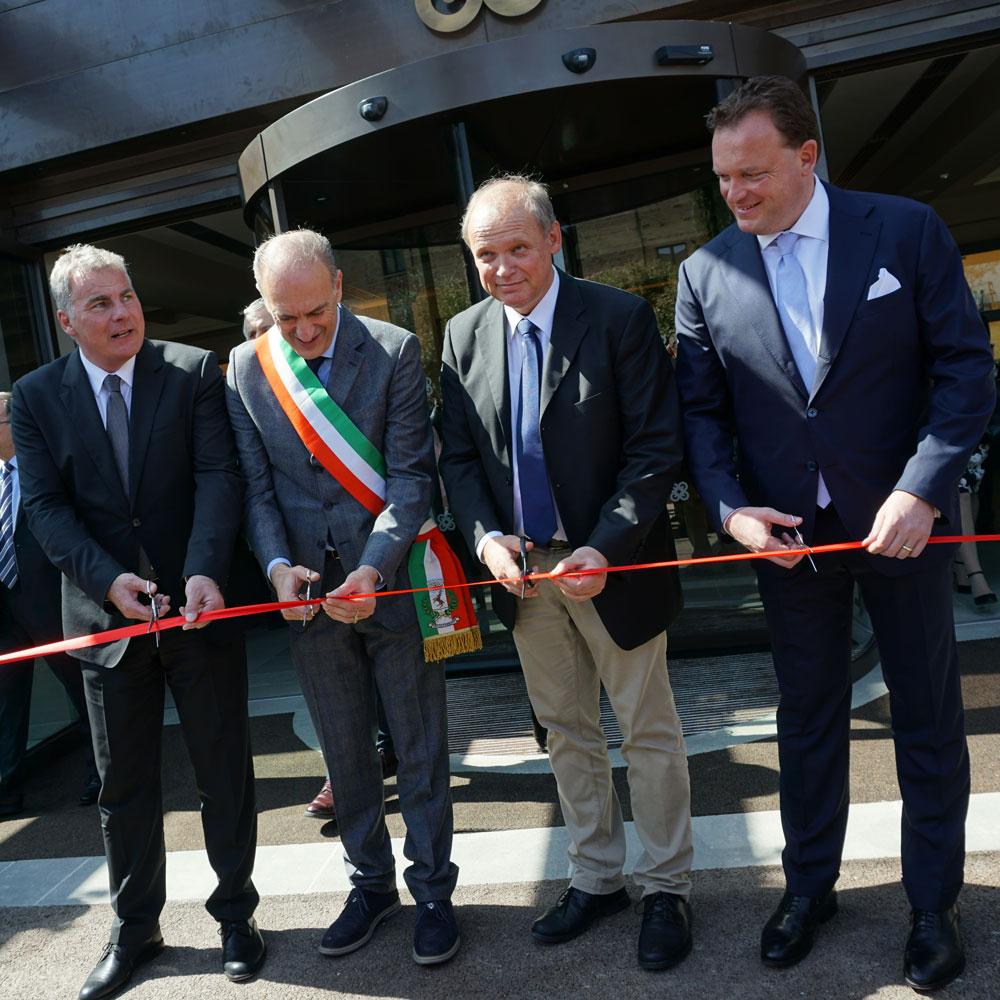 Ribbon-cutting at the Il Castelfalfi hotel opening