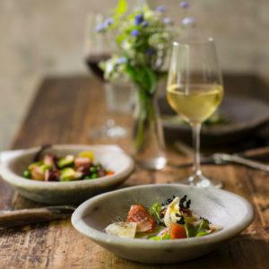 italienisches Essen und Wein