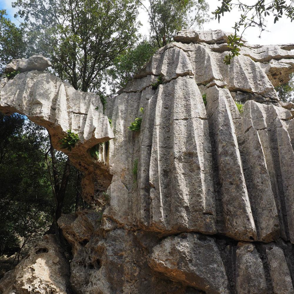 kalksteinformation tramuntana auf amllorca