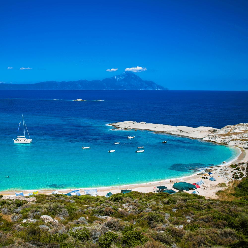 Kriaritsi Beach auf Chalkidiki