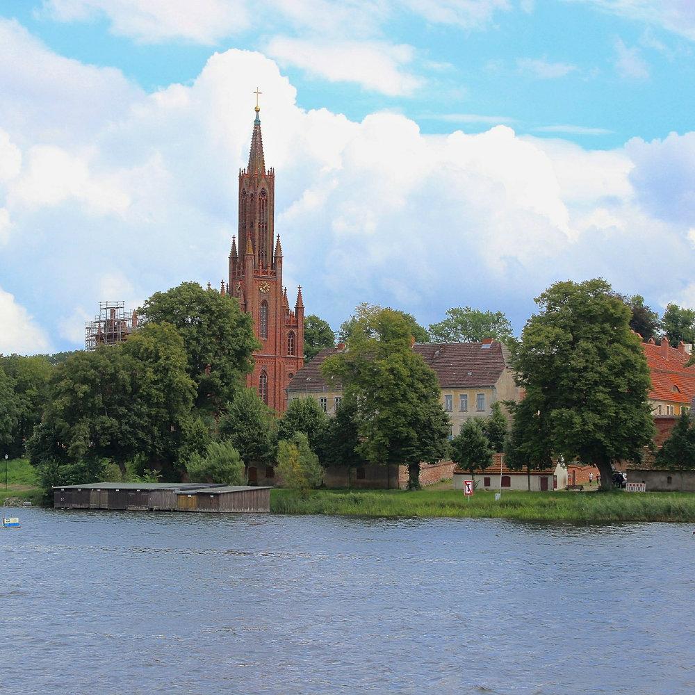 Kirche Malchow von Bootstour aus