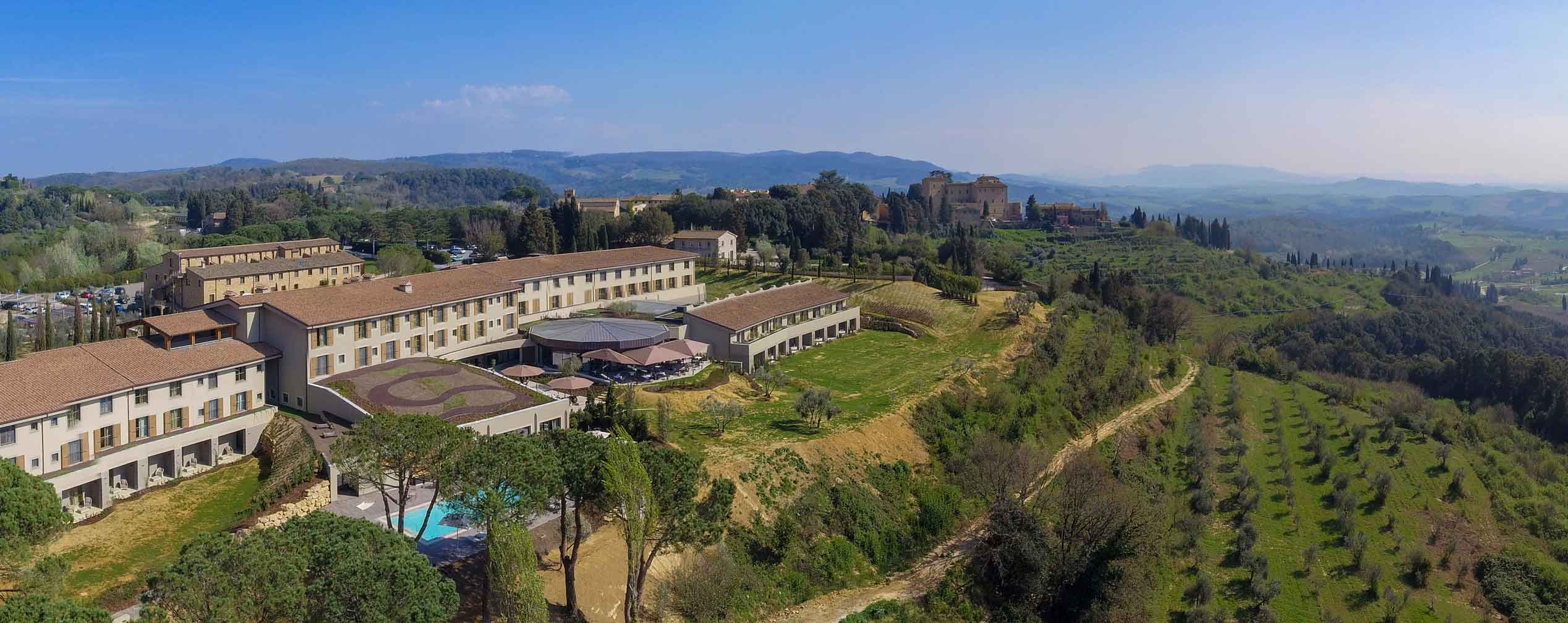 Panorama Il Castelfalfi Hotel Toskana