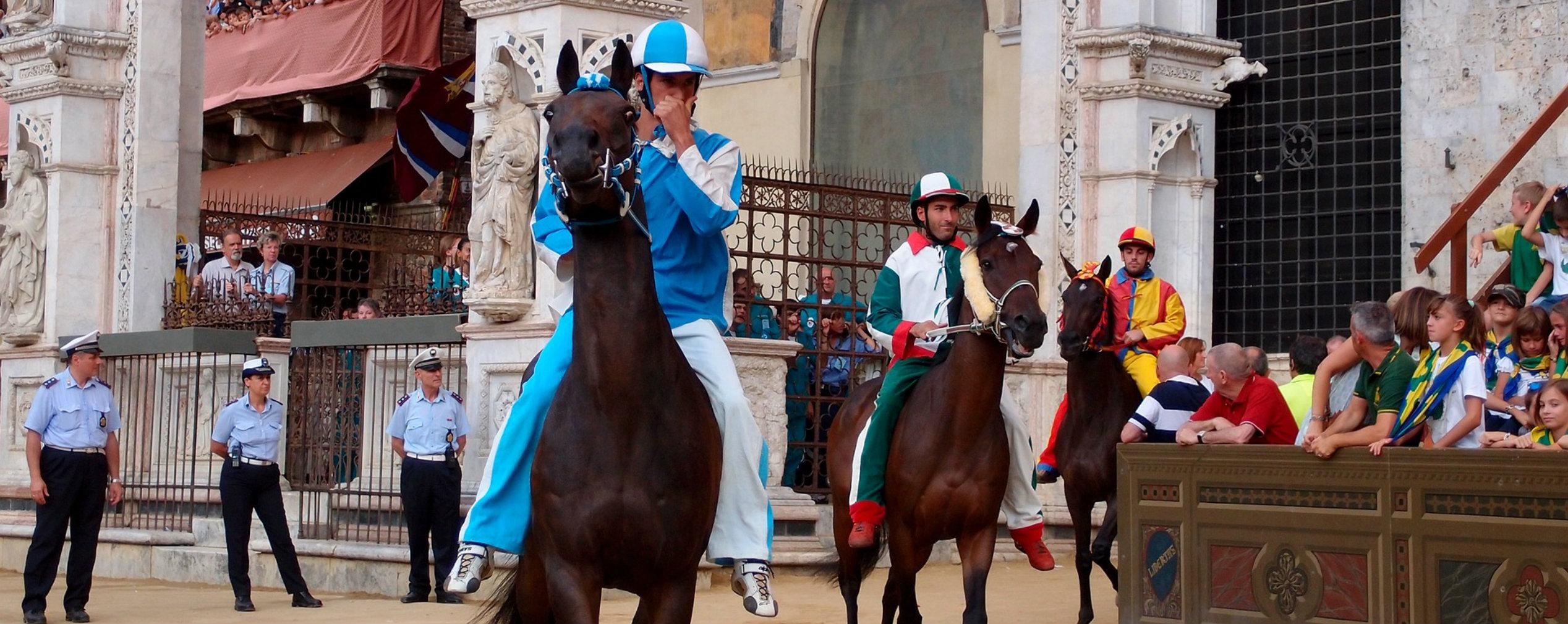 Pferderennen Siena Palio