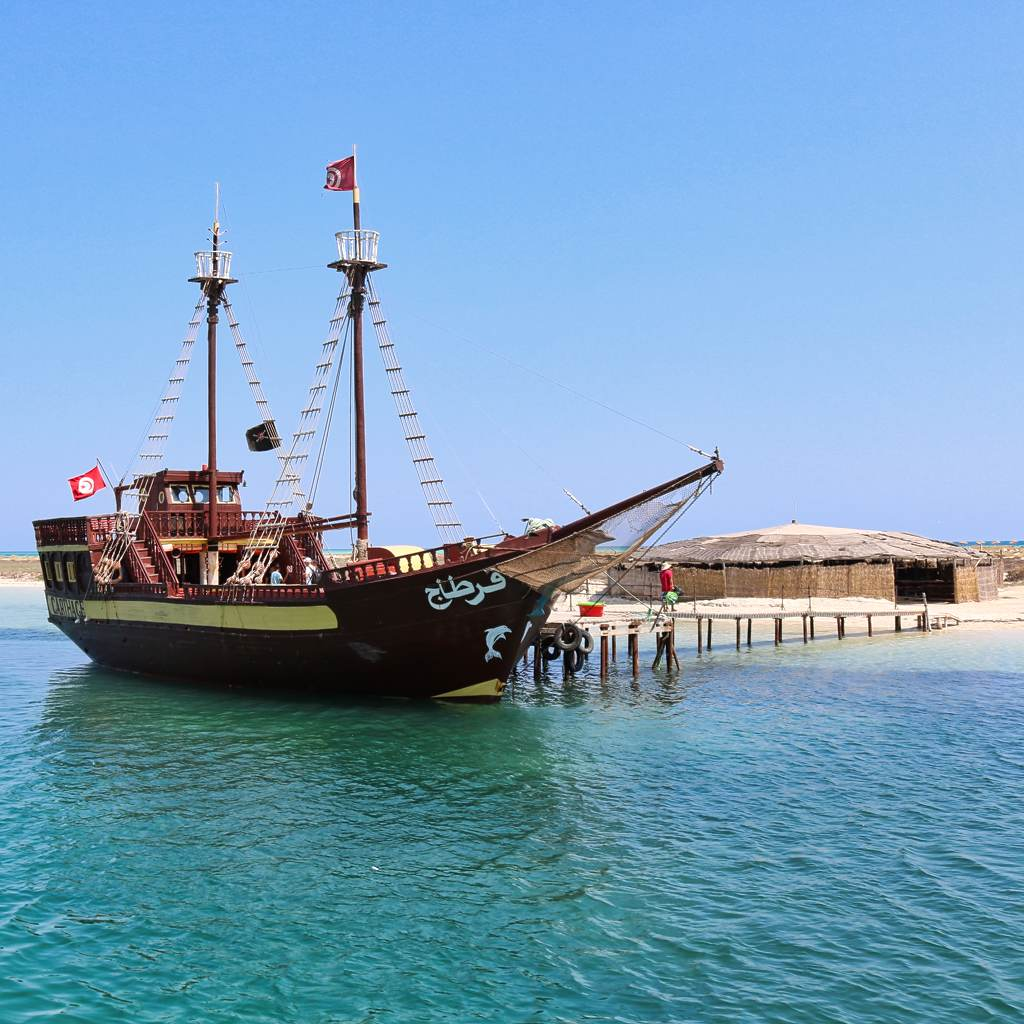 flamingo Island pirate ship