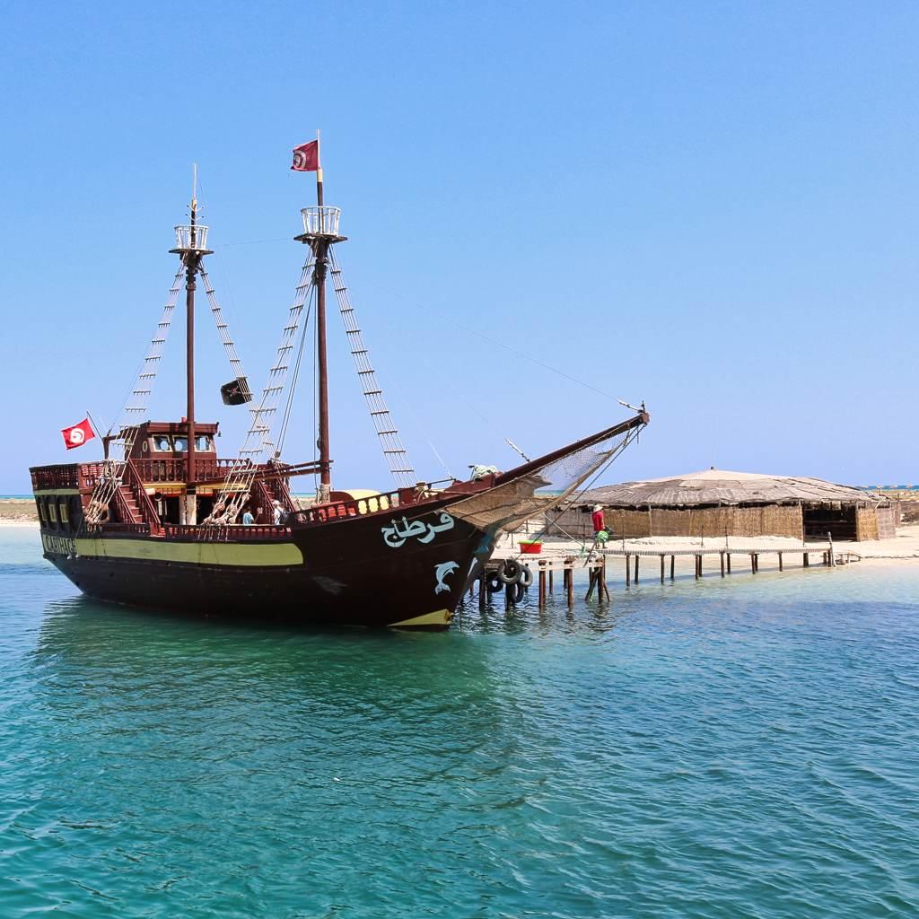 piratenschiff flamingo-insel