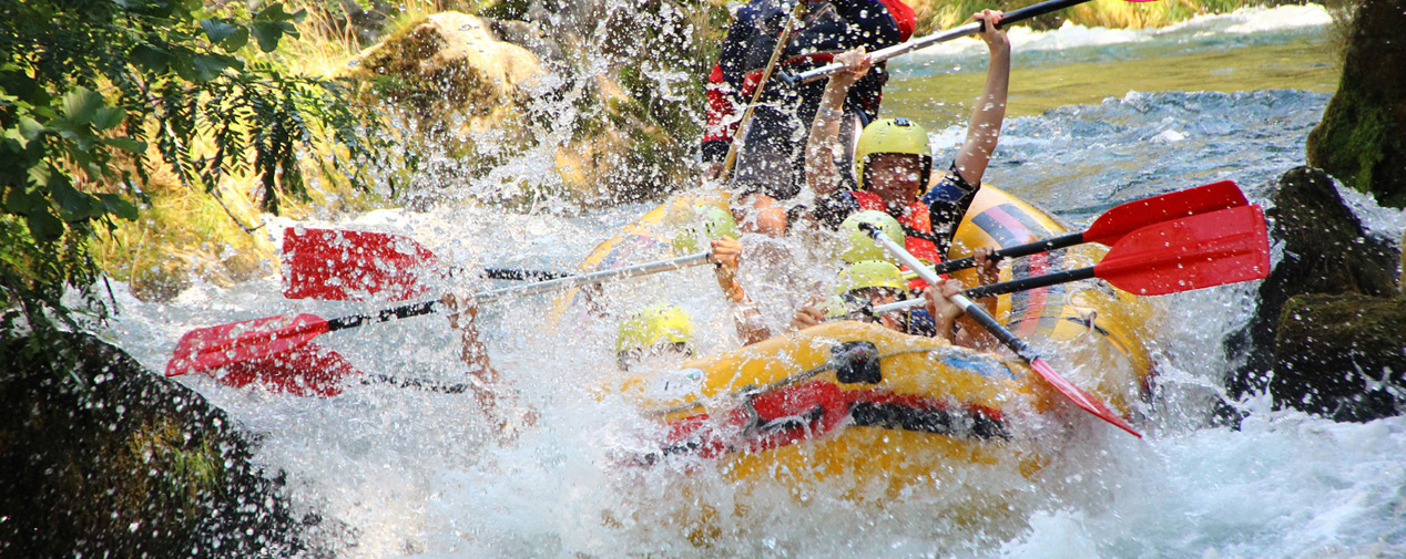 Rafting at the Cetina river in Croatia