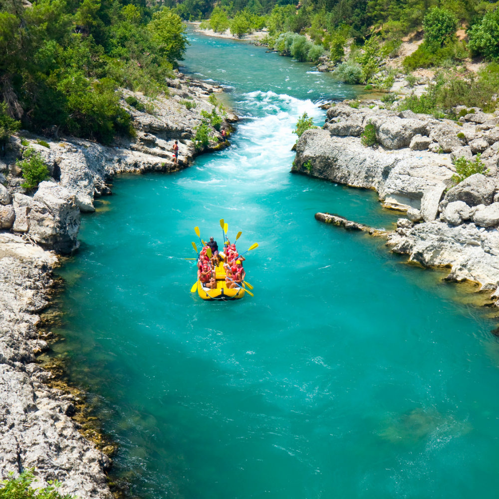 wildwasser rafting nationalpark green canyon