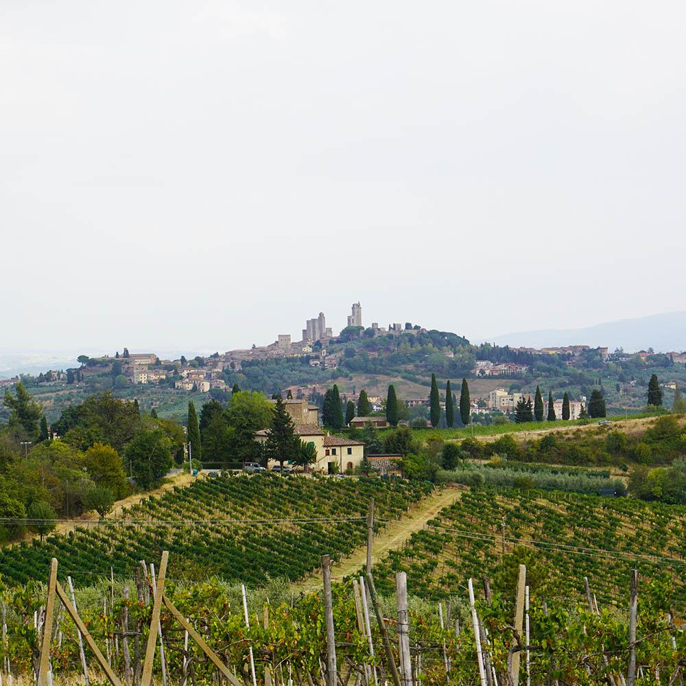 Wunderschöner Ausblick auf die Toskana