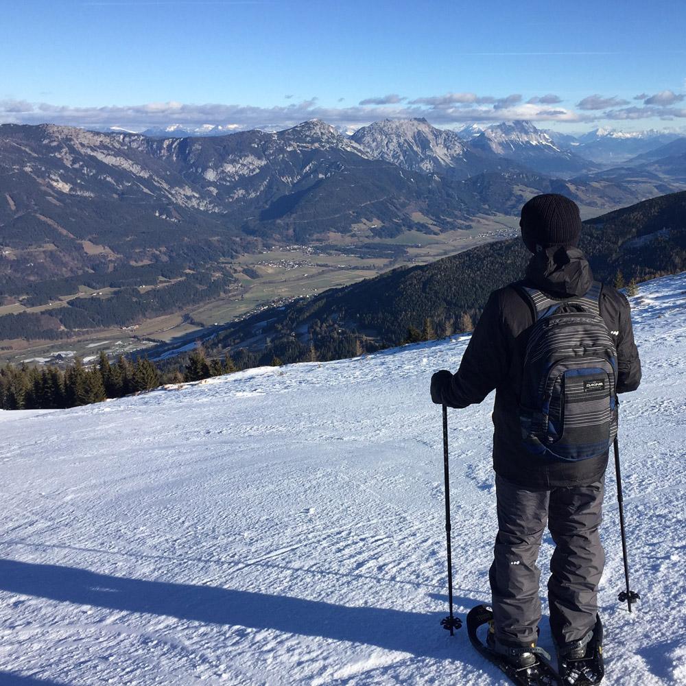 Schneeschuhwandern Schladming Gipfel Planai