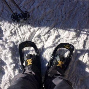 Schneeschuhwandern Schneeschuhe Skistöcke