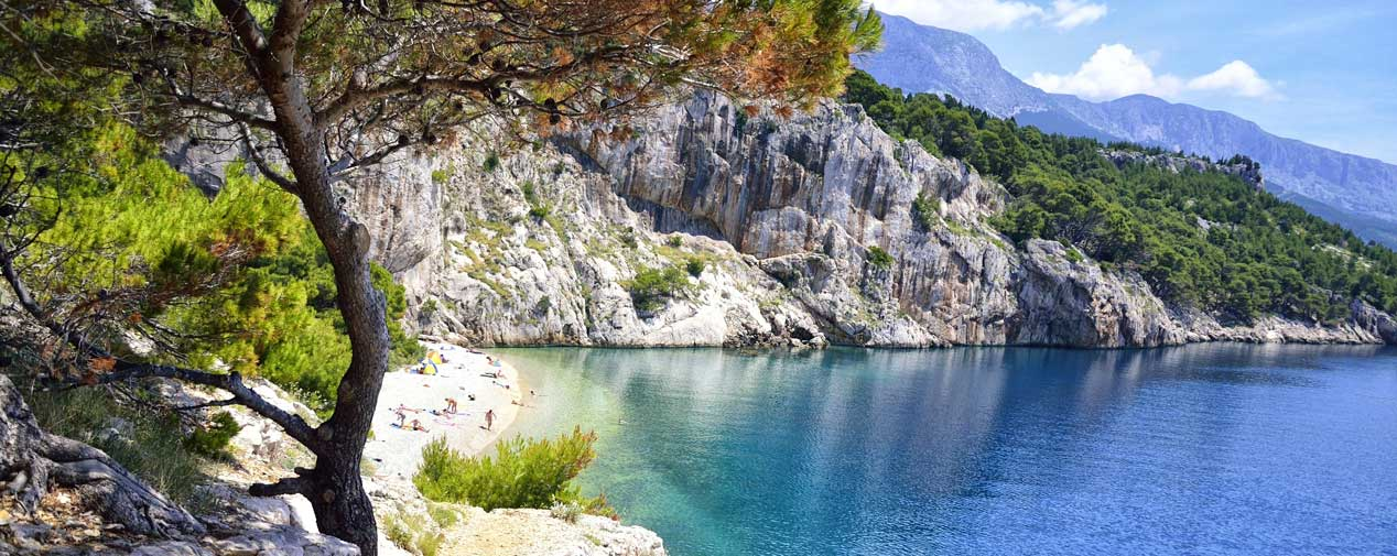 most beautiful beaches makarska riviera header