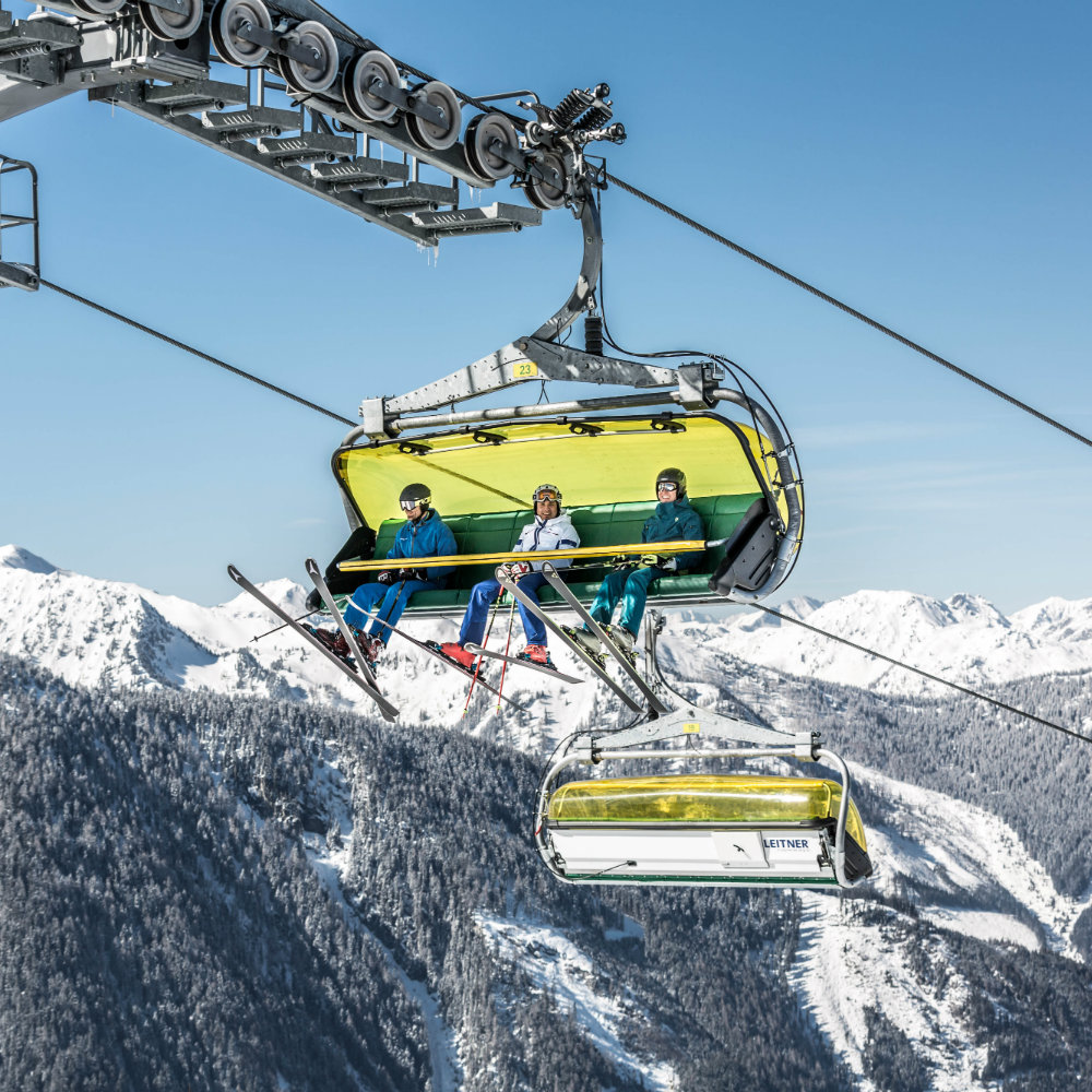 Skilift Gipfelberg Personen Skier